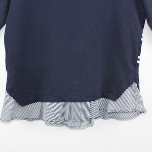 crown & ivy Tops - Crown & Ivy Women's Top Knit Nautical Ruffle Hem